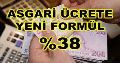 Asgari Ücrette Yeni Formül Yüzde 38