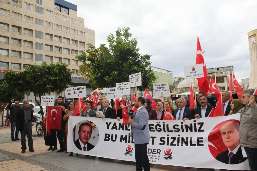 Cumhurbaşkanı Erdoğan'a destek eylemi