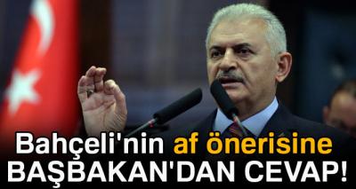 Bahçeli'nin af önerisine Başbakan'dan cevap