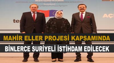Bakan'dan Müjde! Binlerce Suriyeli İstihdam Edilecek