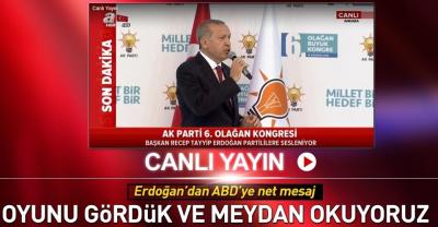 Başkan Erdoğan AK Parti 6. Olağan Kongresi'nde Konuşuyor.