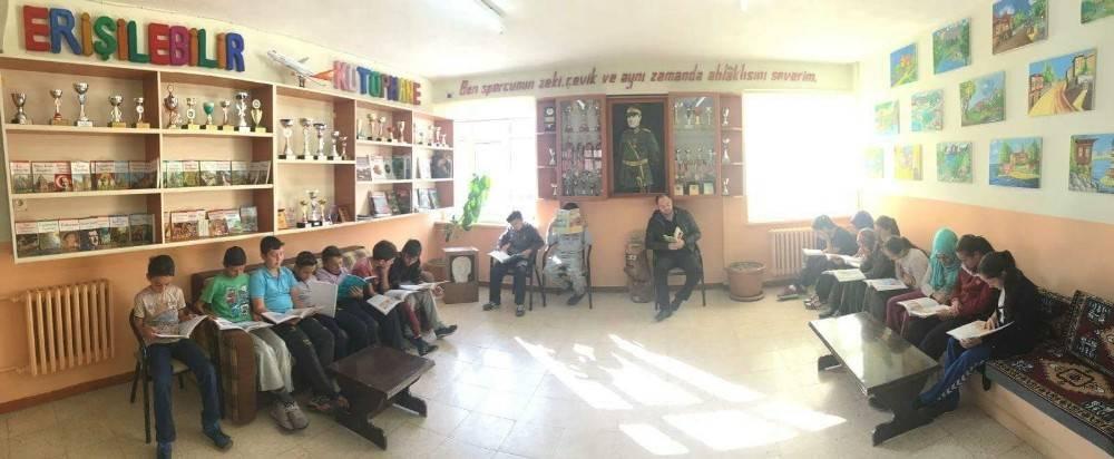 Şaphane'de öğrenciler için 'erişilebilir kütüphane' projesi