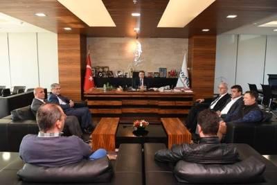 Belediye-İş Sendikası Başkanla Görüştü.