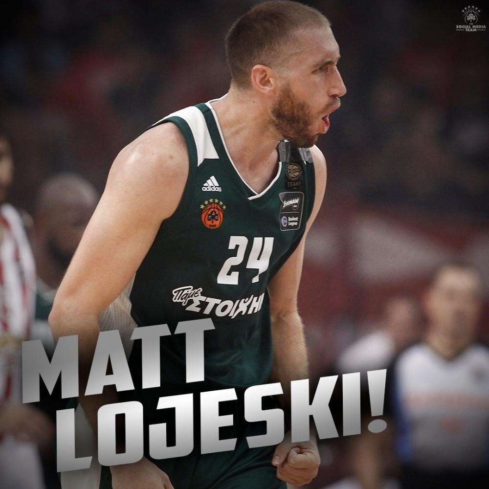 Panathinaikos, Matt Lojeski'nin sözleşmesini 1 yıl uzattı
