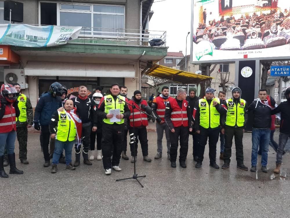 Saraylı Motosikletçiler Afrin şehitlerini andı