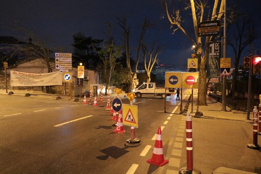 Tıbbiye caddesi trafiğe kapatıldı