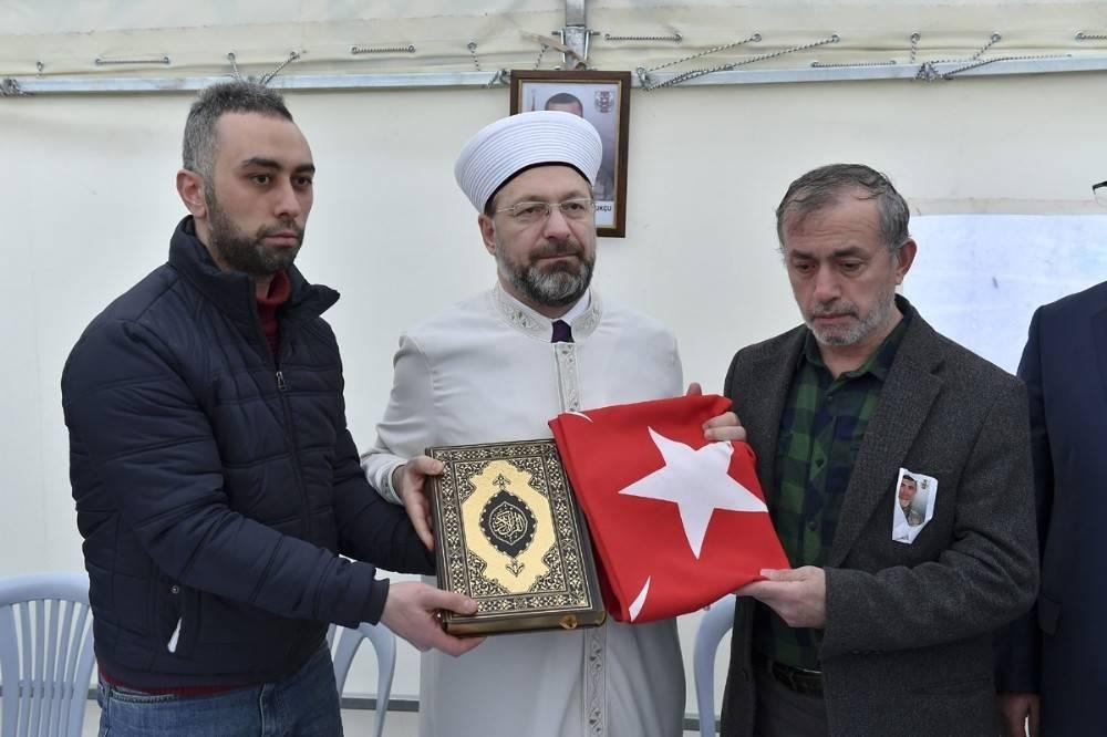 Diyanet İşleri Başkanı Erbaş'tan Sergen Pamukçu'nun ailesine hac müjdesi