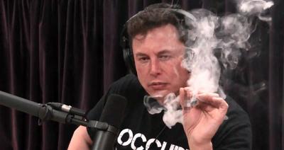 Elon Musk Canlı Yayında Esrar İçti