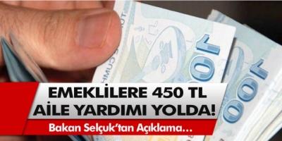 Emeklilere müjde! KPDK toplantısında alınan karara göre 450 TL aile yardımı yolda…