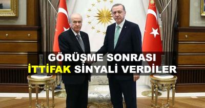 Erdoğan - Bahçeli Görüşmesi Sonrarı İttifak Sinyali Verildi