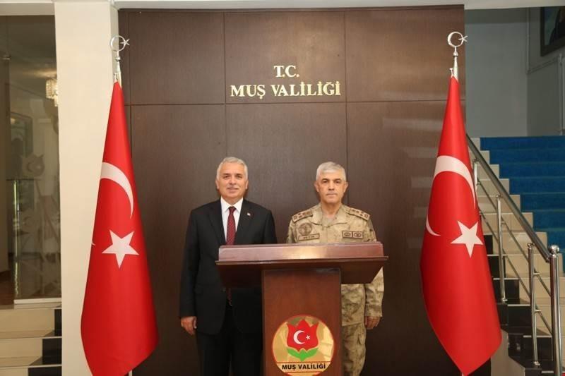 Jandarma Genel Komutanı Orgeneral Arif Çetin Muş'ta
