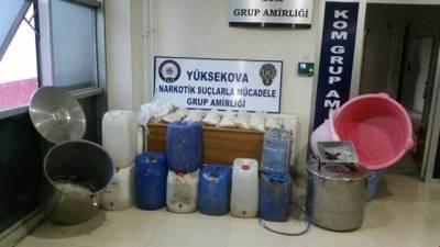 Hakkari Yüksekova'da uyuşturucu operasyonu