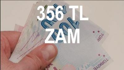 Maaşlara 356 TL Zam Geliyor!