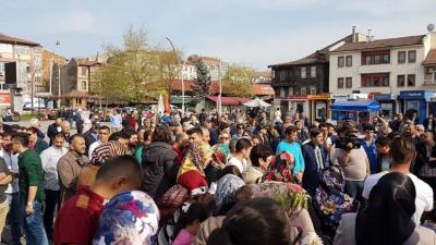 Madenciler Cumhuriyet Meydanı'nda toplandılar