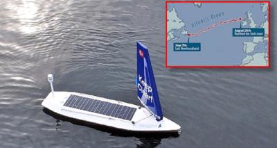 Norveçli Şirketin Ürettiği İnsansız Robot Tekne Atlantik'i Aştı