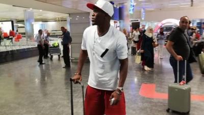 Trabzonspor'un yeni transferi Nwakaeme İstanbul'da