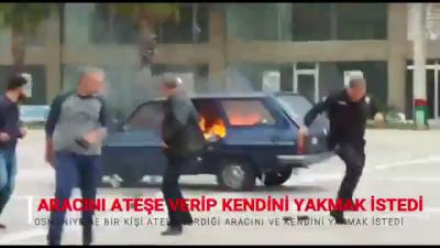 Gelen Trafik Cezalarını Protesto Etmek İçin Aracını Ateşe Verdi
